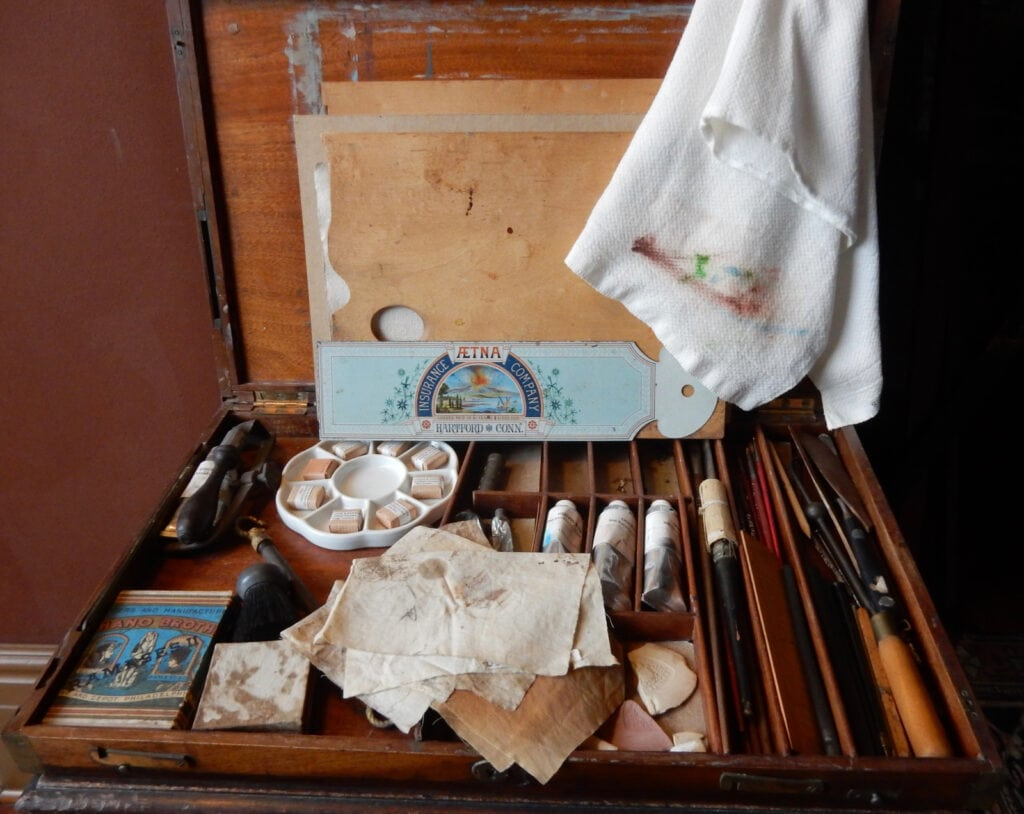 Paint box that belonged to Frederick Church at Olana Hudson NY