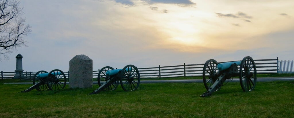 Cannons on Gettysburg National Battlefield