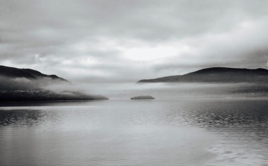 Misty Hudson River