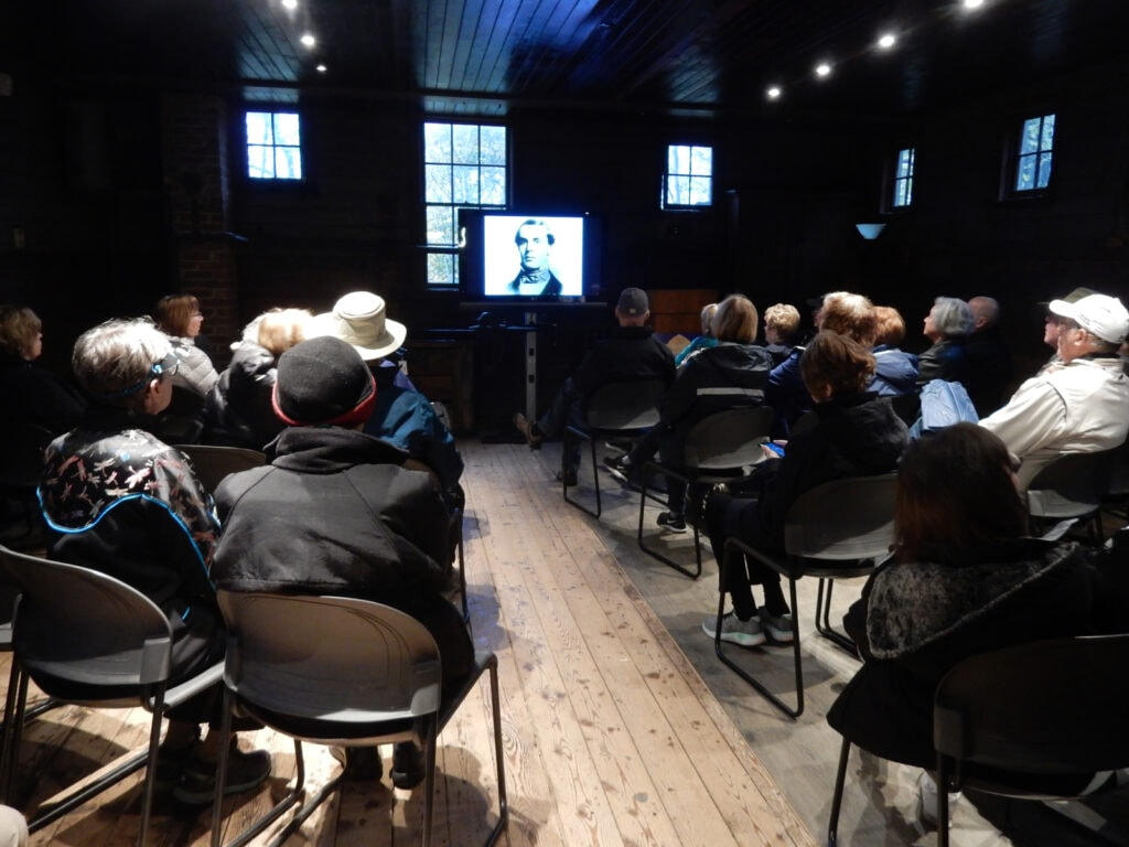 Olana Orientation video in Visitors Center Hudson NY