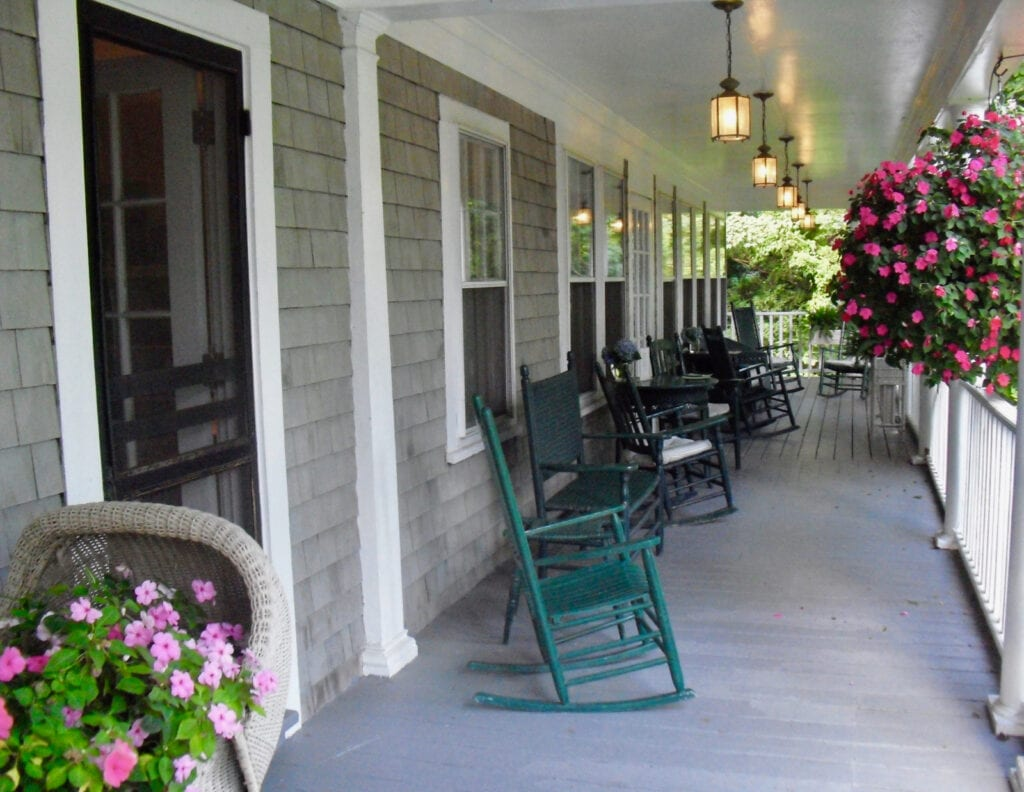 Old Sea Pines Inn Front Porch Brewster MA