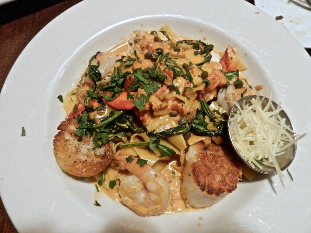 Seafood Pasta Special Champneys Restaurant Deerfield MA