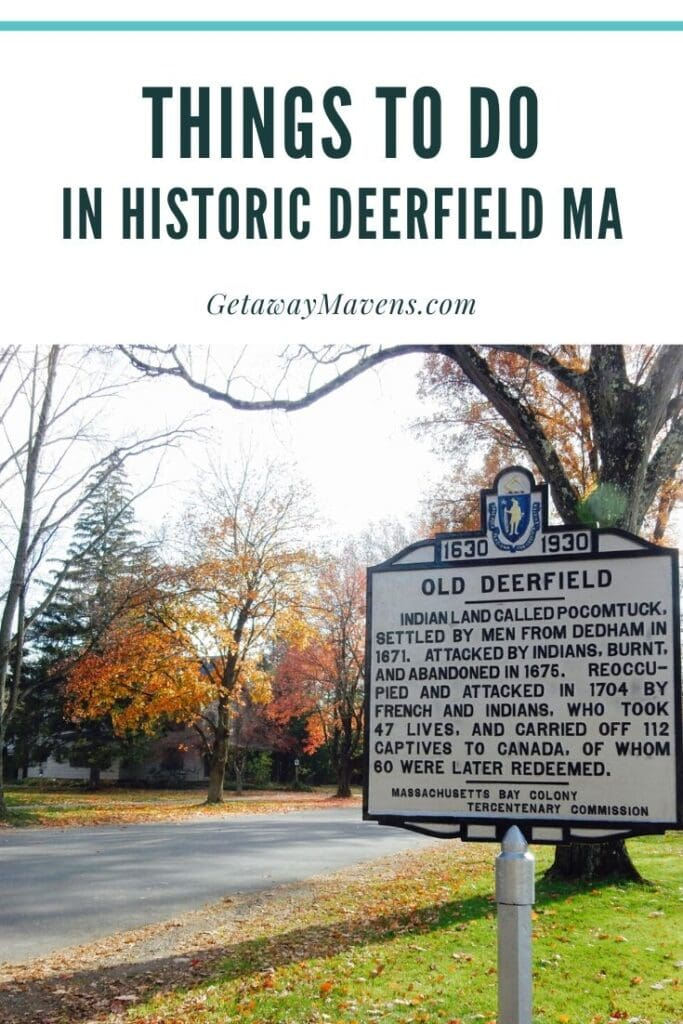 Historic Deerfield MA Pin