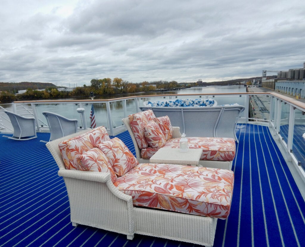 Eye Catching deck furniture on new American Cruise Line Ships
