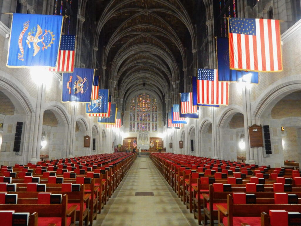 West Point Academy Chapel interior
