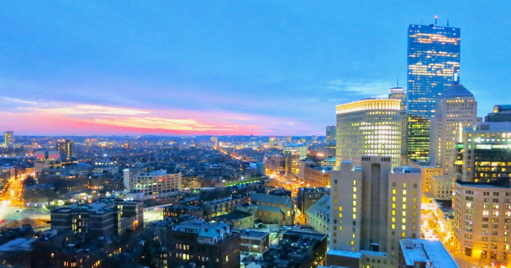Sunset from Revere Hotel Boston