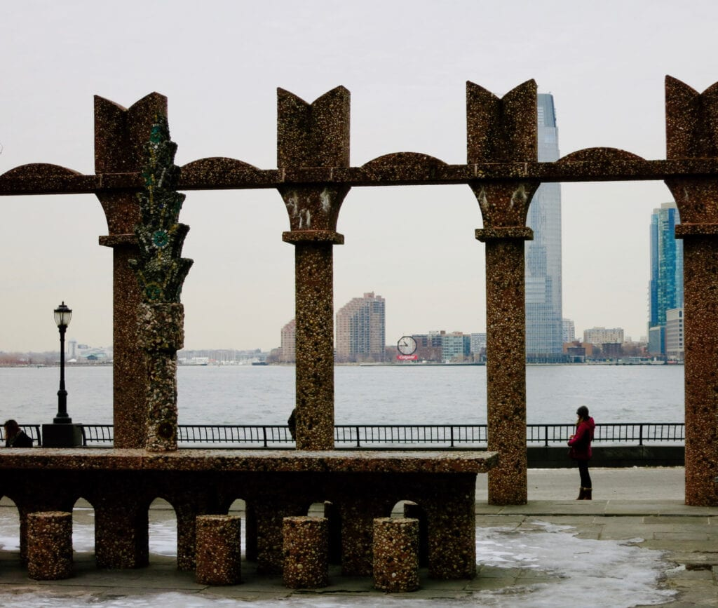 Across from Jersey City on Hudson River Downtown NYC