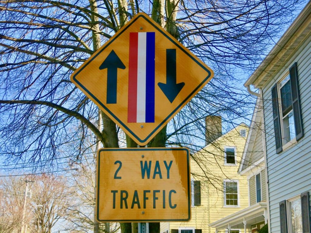 Bristol RI Main Street Sign