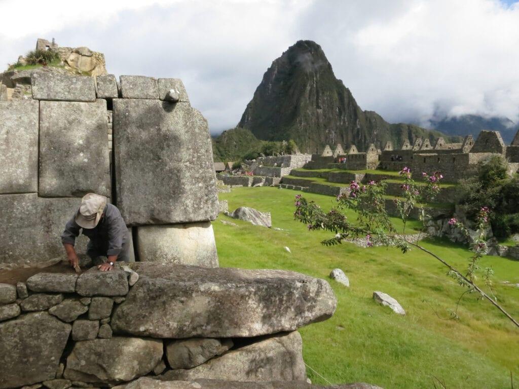 Inside Machu Pichu Peru