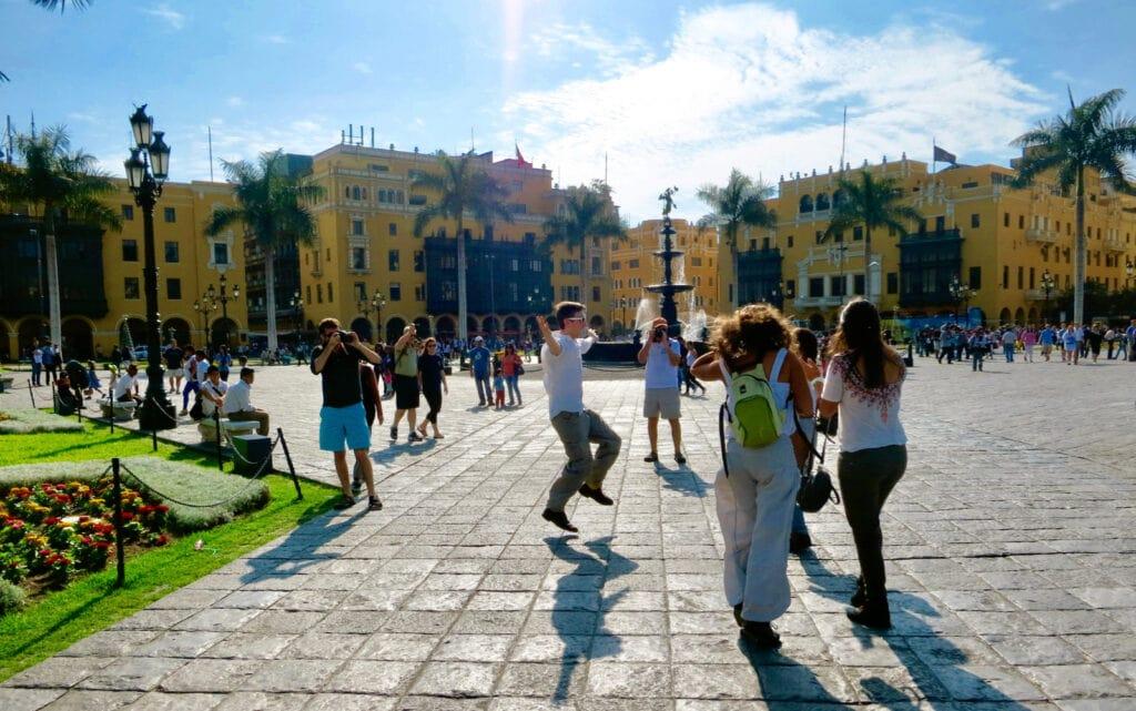 Lima Peru Street Scene