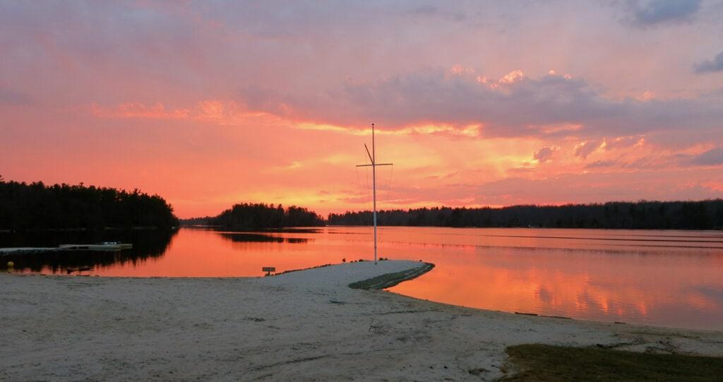 Sunset Over Lake Naomi Poconos PA