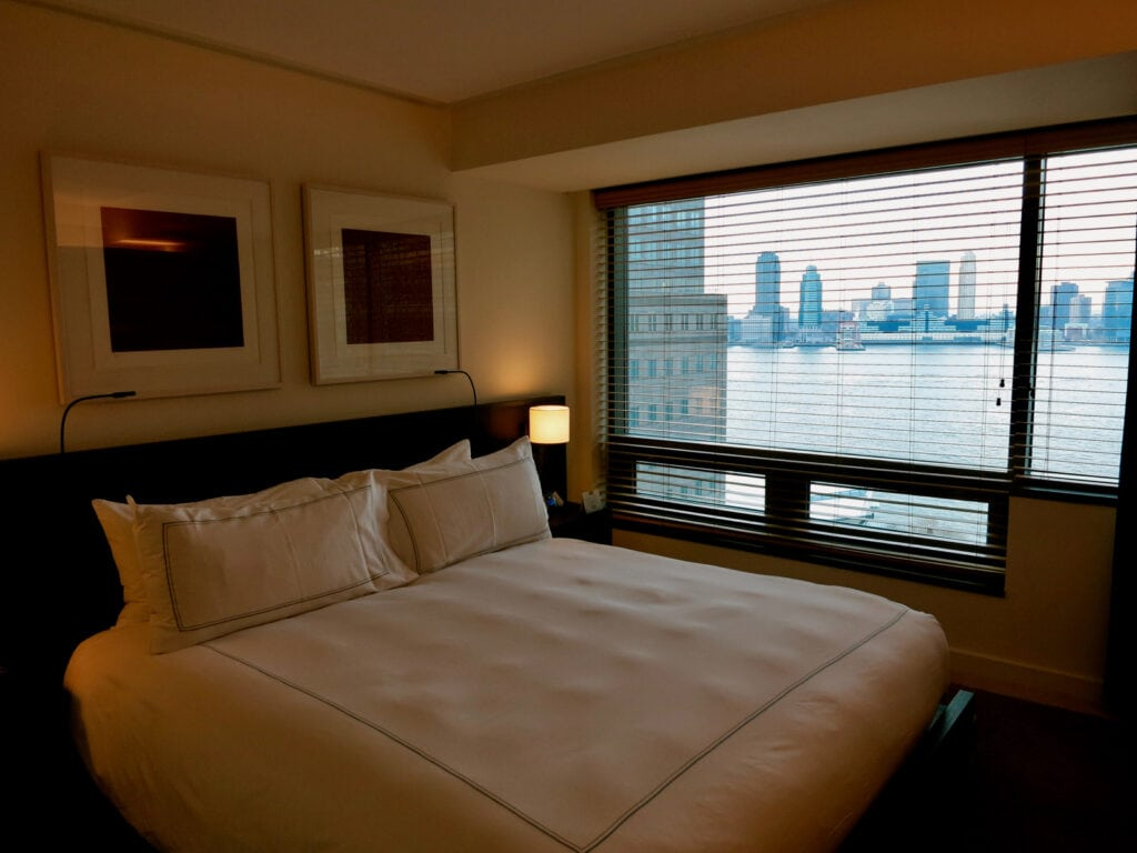 Hudson River View from Conrad Hotel Guest Room NYC