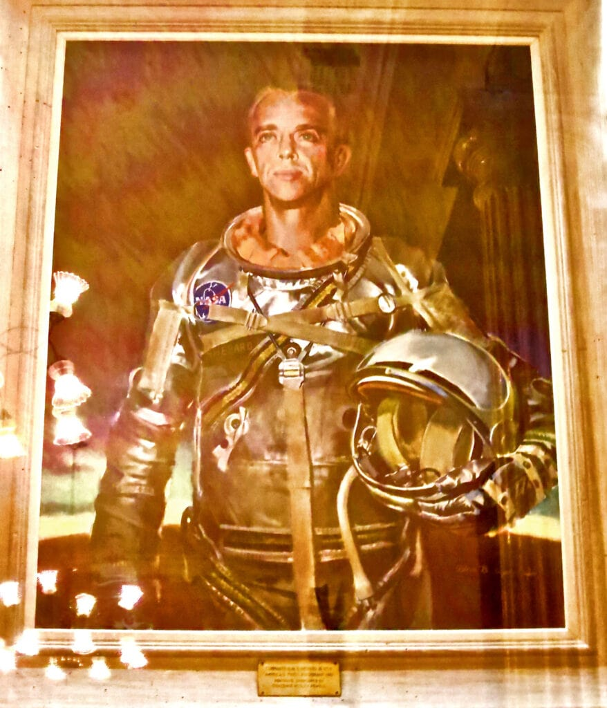 Alan Shepard Portrait NH Capitol Concord NH