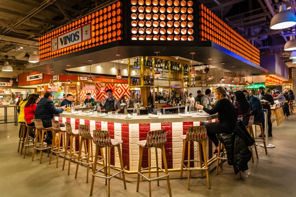 Food stall at Little Spain Hudson Yards