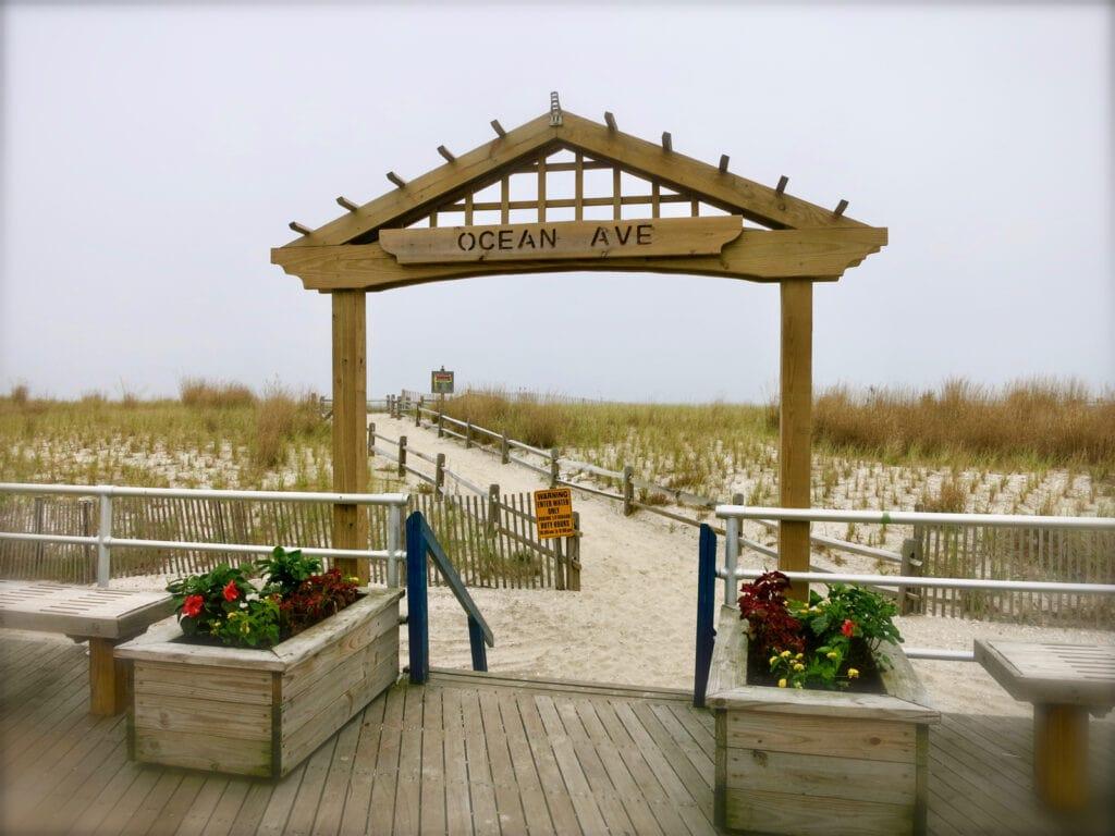Ocean Ave Beach Entrance Atlantic City NJ