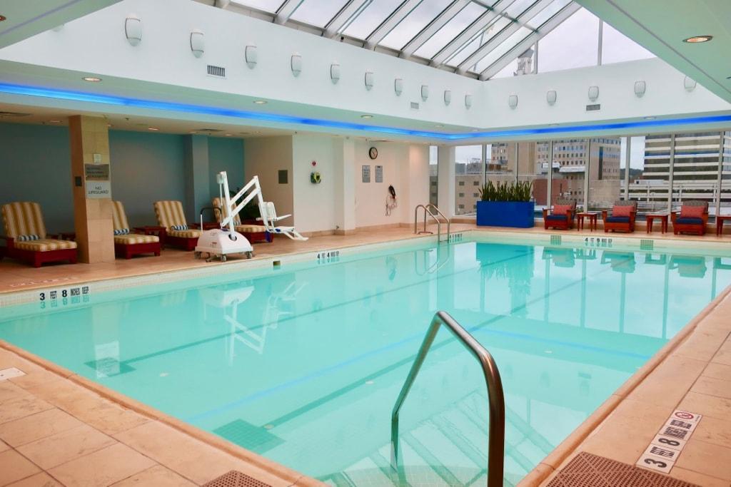 Opus Westchester Hotel enclosed rooftop pool