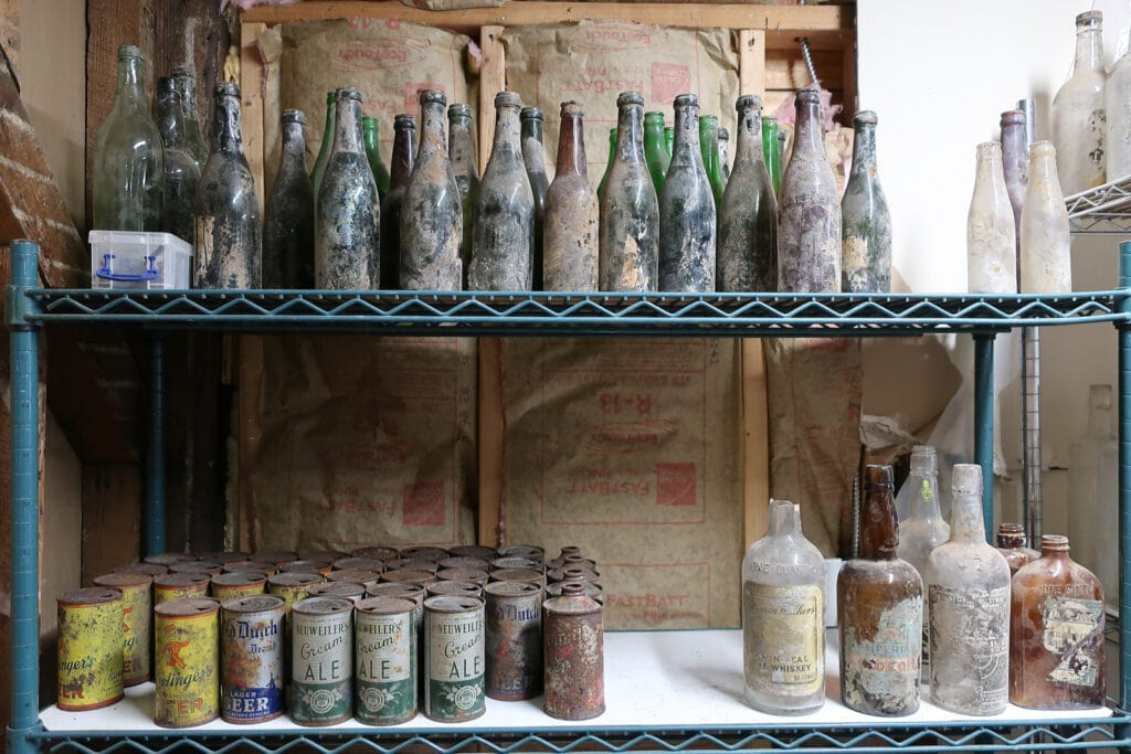 Bottles unearthed under The Continental Tavern Yardley PA