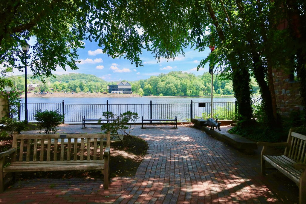 Ferry St at Delaware River New Hope PA