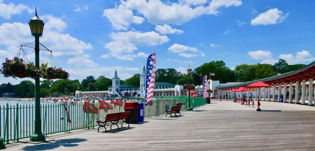 Rye Playland Boardwalk Beach NY
