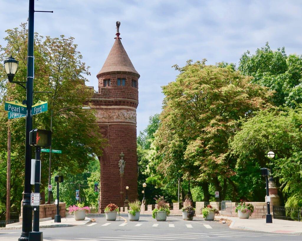 Entrance to Bushnell Park Hartford CT