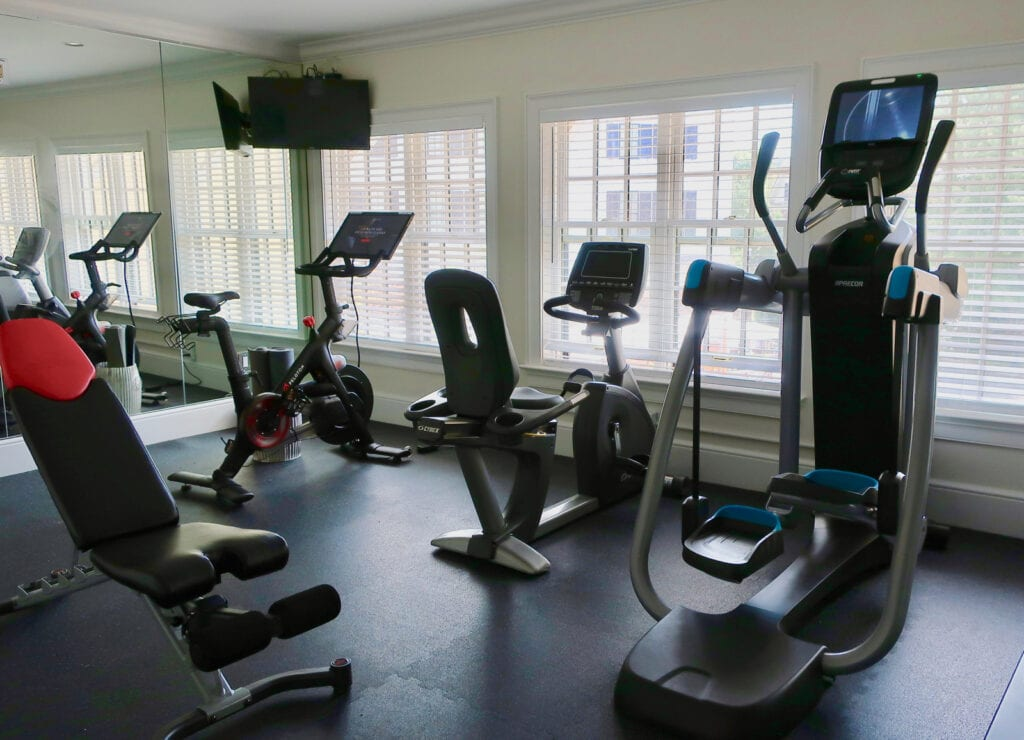 Fitness Room with Pelaton Delamar