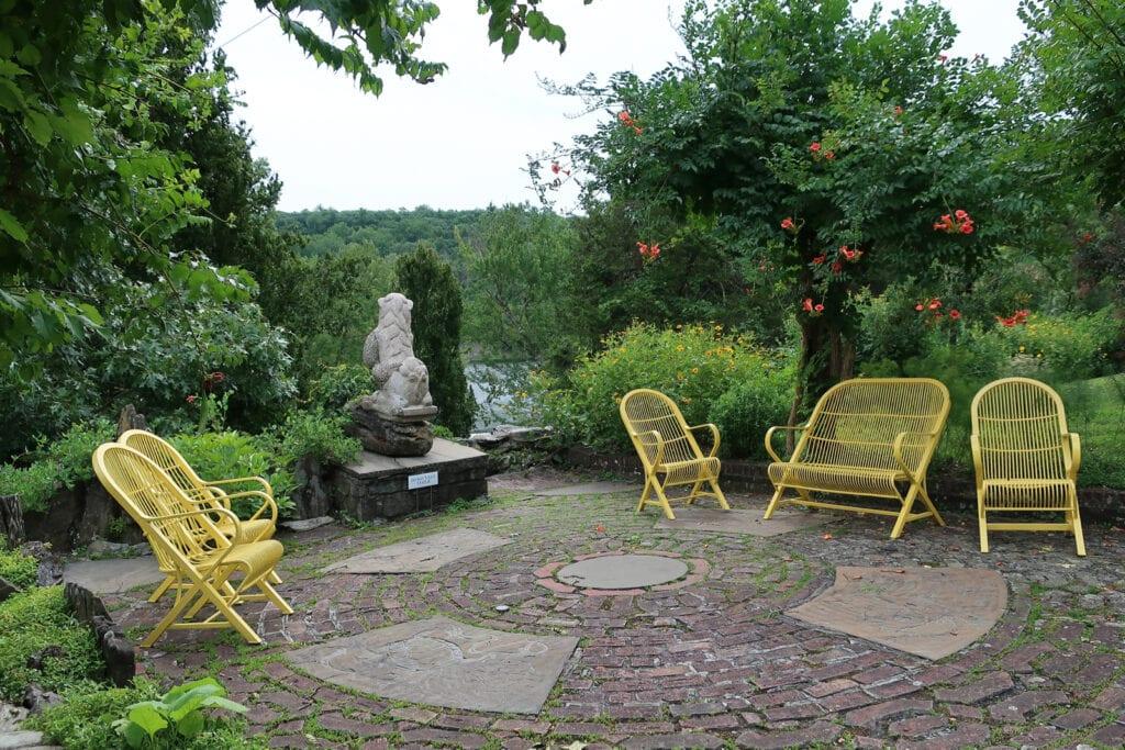 Patio nook Innisfree Gardens Millbrook NY