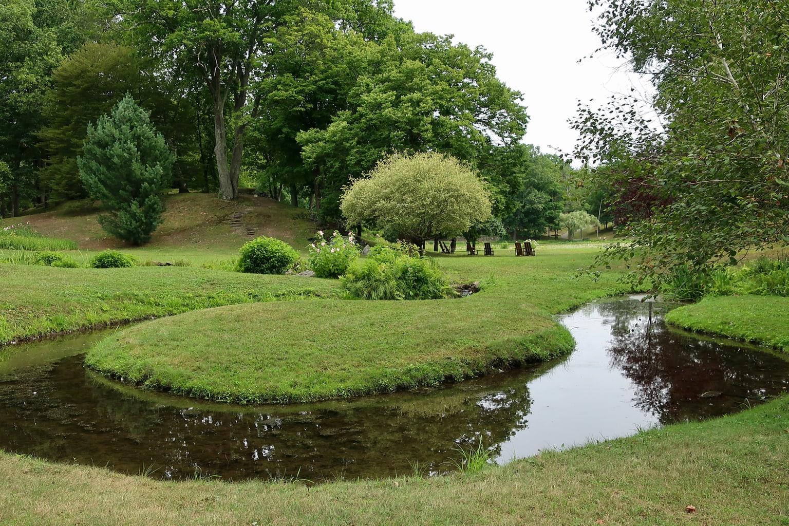 Serpentine river Innisfree Gardens Millbrook NY