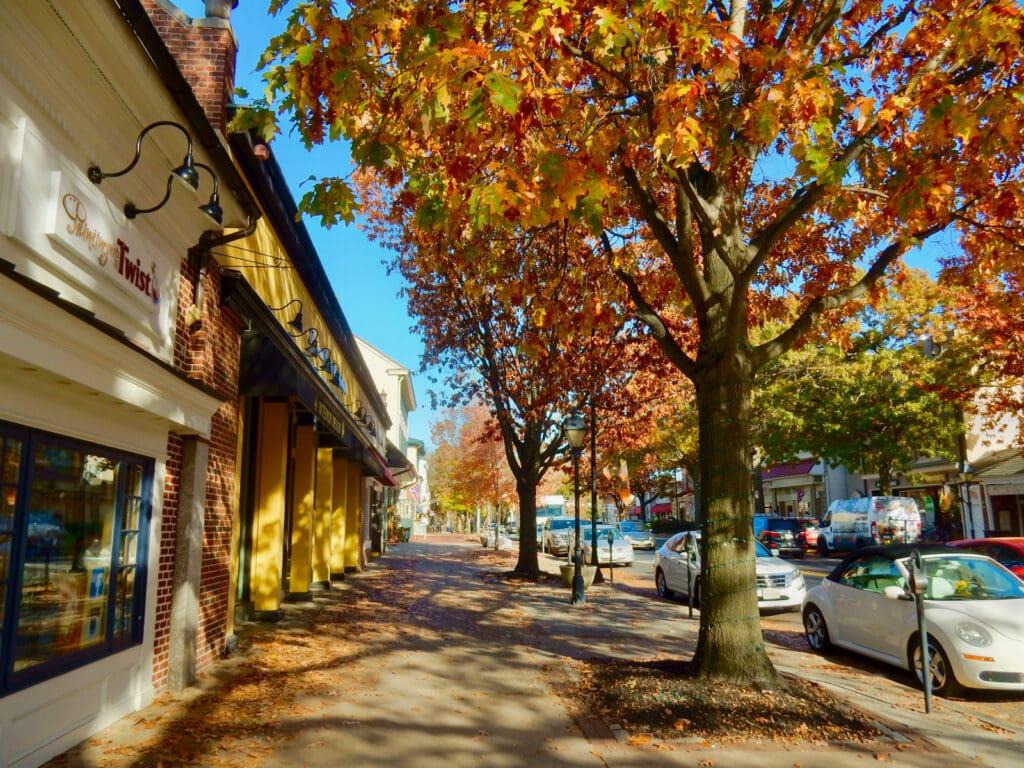 Downtown Haddonfield NJ in Fall
