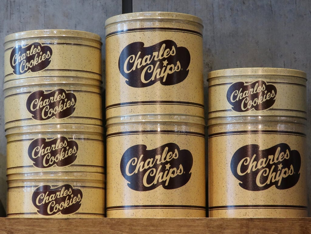 Charles Chips in original can