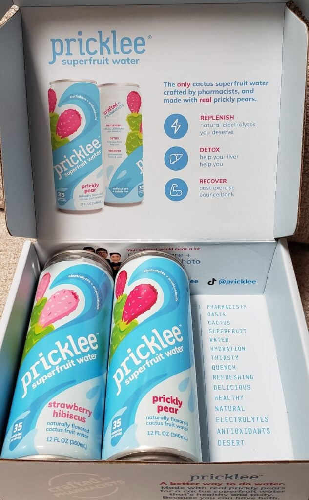 Pricklee Water cans and box