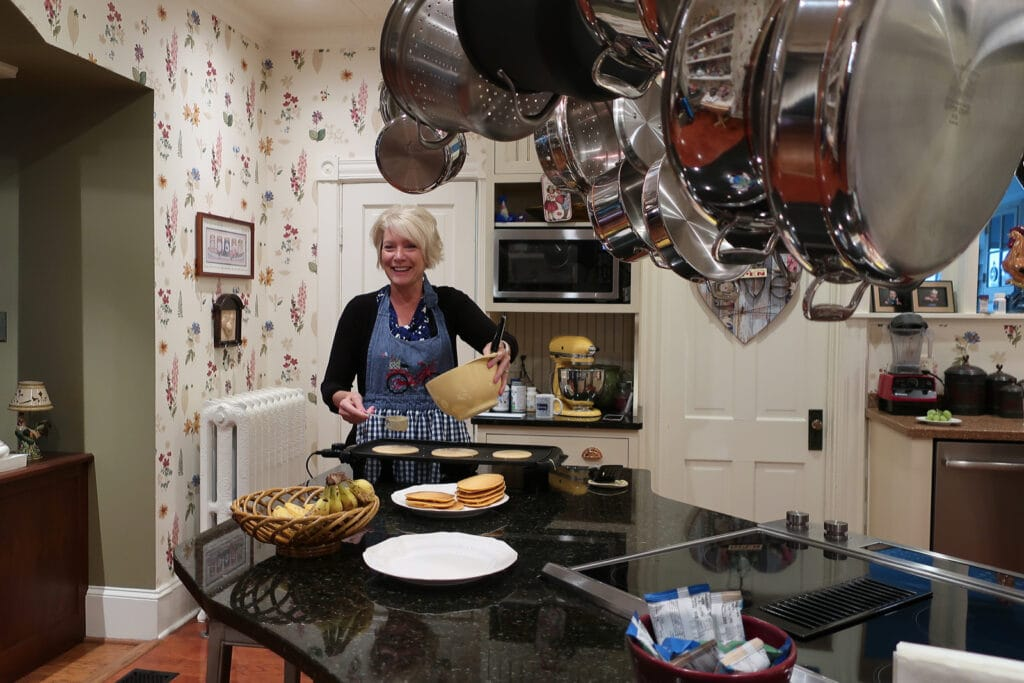Alice-Muellerweiss-cooking-Hopewell-House-Bike-Bed-Strasburg-VA