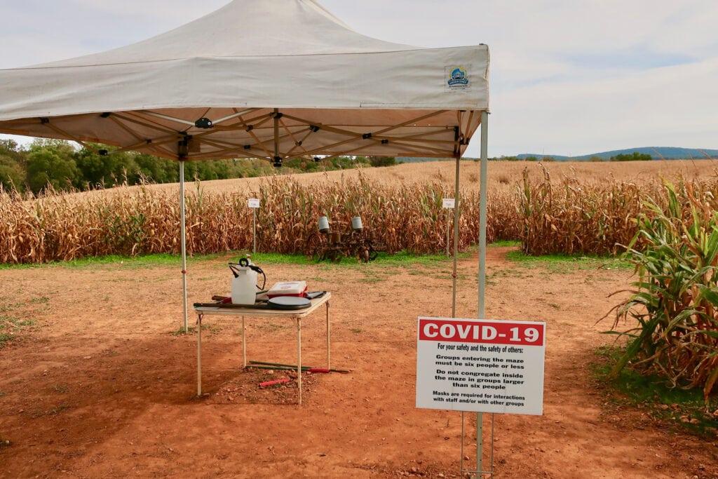 Corn-Maze-Entrance-Liberty-Mills-Farm-VA