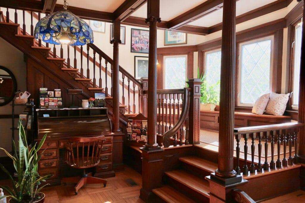 Friendly-City-BnB-foyer-staircase-Harrisonburg-VA