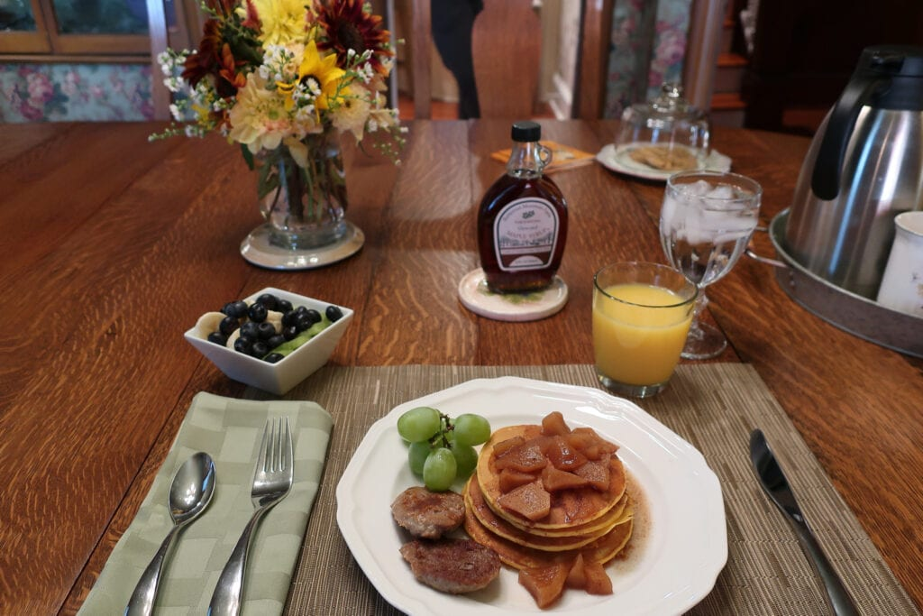 Sweet-Potato-Pancakes-Hopewell-House-BB-Strasburg-VA