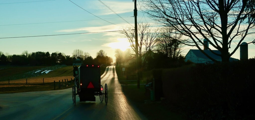 Amish-Buggy-Sundown-Lancaster-County-PA