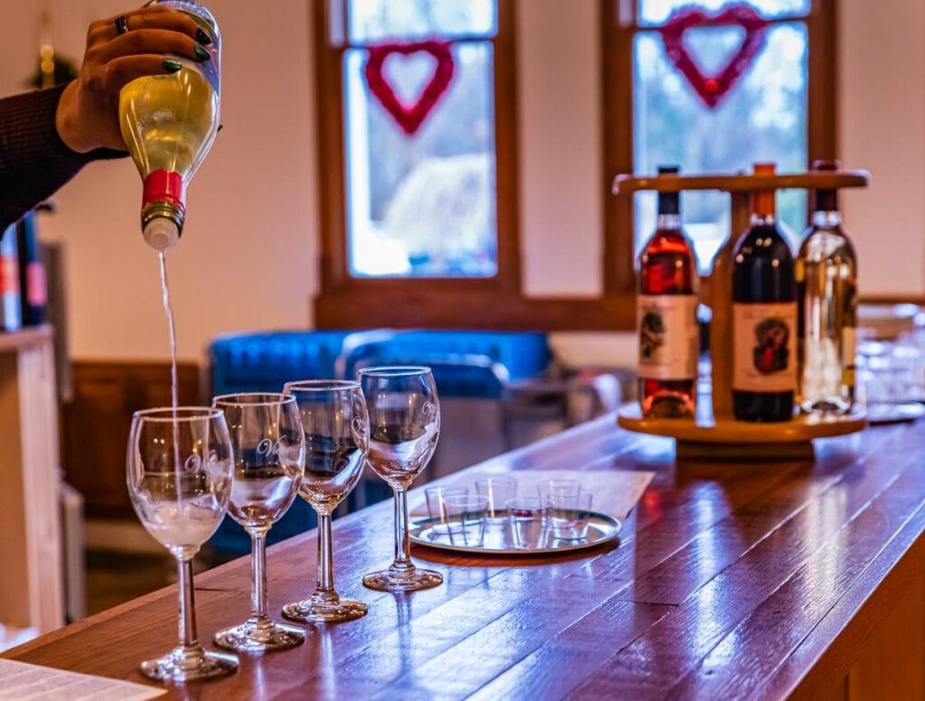 Wine tasting at Victorianbourg Wine Estate.