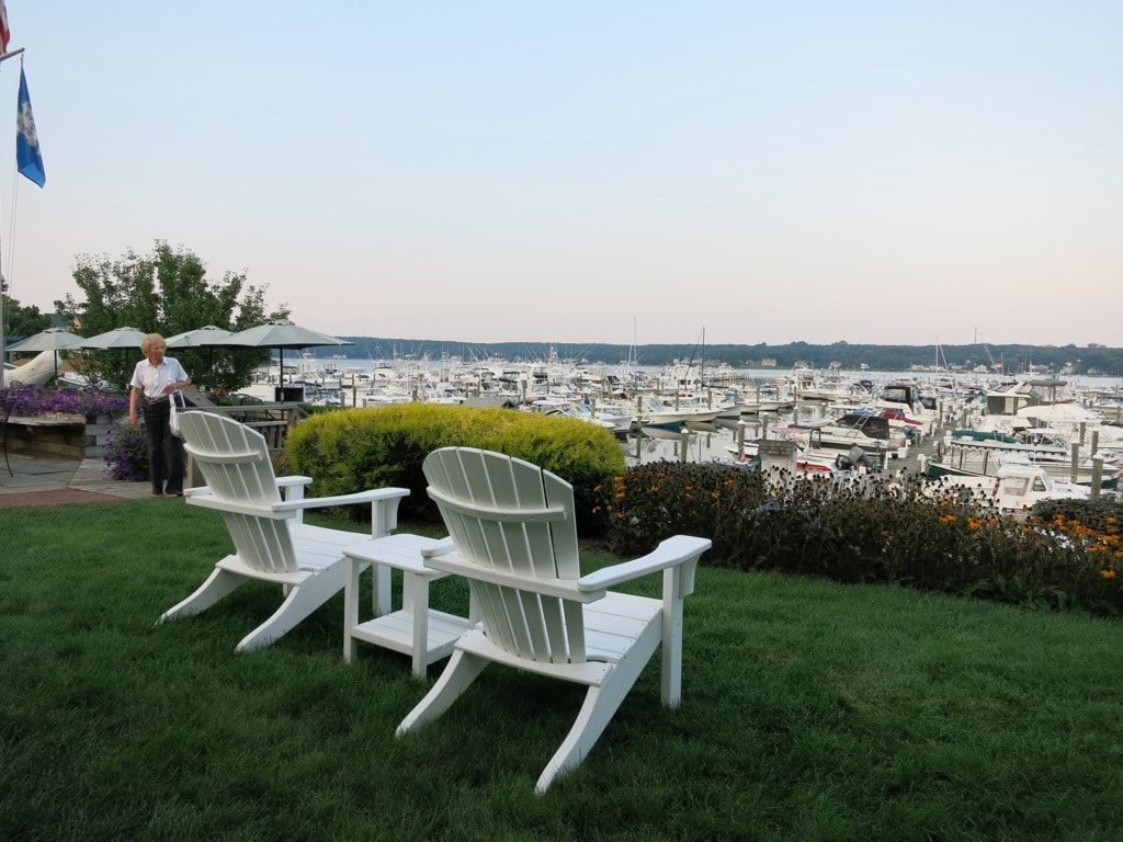 View of Marina from Harbor Hill Inn Niantic CT