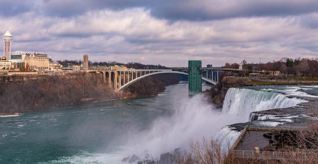 Winter at Niagara Falls Observation Tower