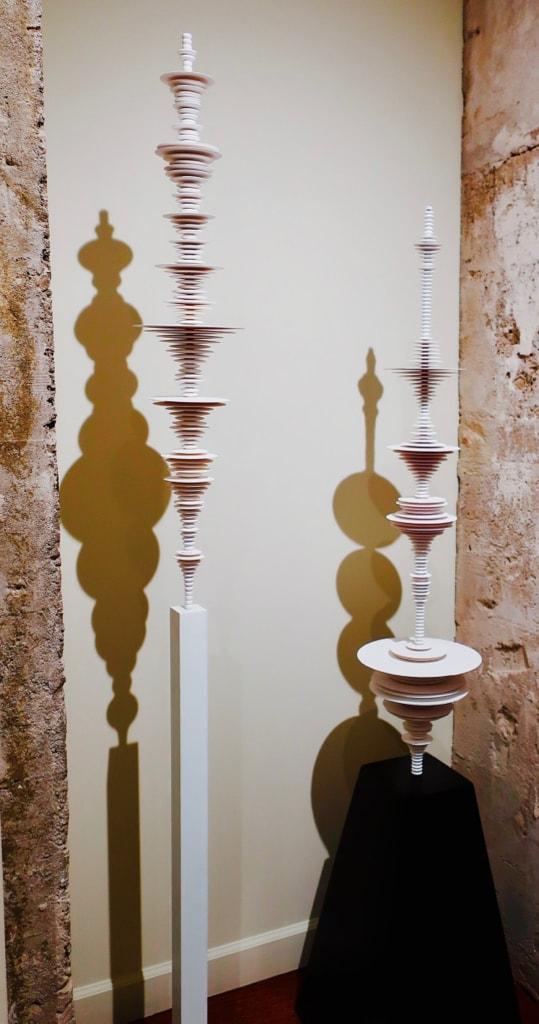 Bird Call Sound Wave 3-D Printed Sculptures Fairfield U Art Museum