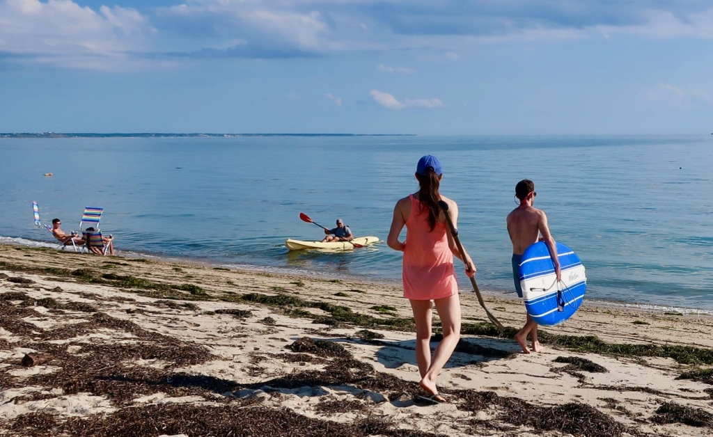 Kayaking together on Cape Cod MA