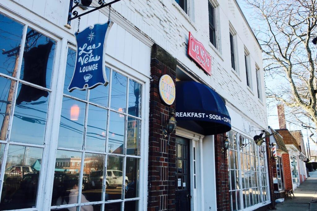 Exterior of Las Vetas Lounge a coffee/breakfast favorite Fairfield CT