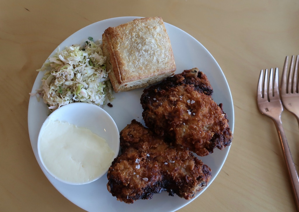 Smoked Fried Chicken and Biscuit a Troutbeck Lunch specialty