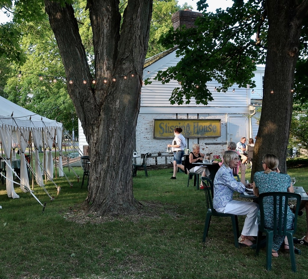 Romantic outdoor dining at Stissing House in Pine Plains NY