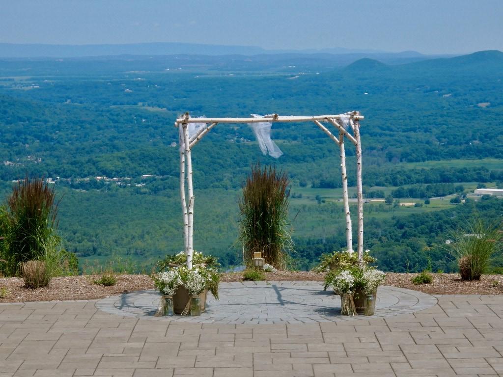 Wedding spot overlooking Sussex County NJ at Mountain Creek Vernon NJ
