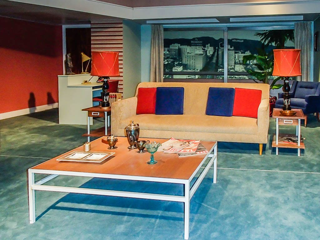 Living room set in the Lucille Ball Desi Arnaz Museum at the National Comedy Center.