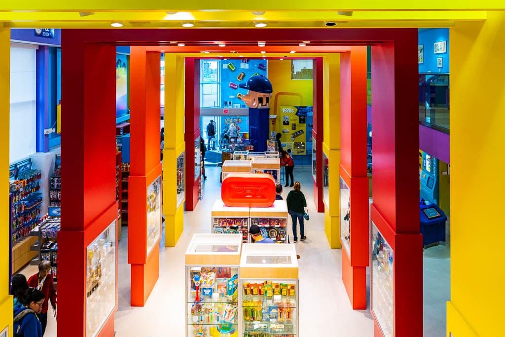 Interior of the PEZ Visitor Center in Orange CT