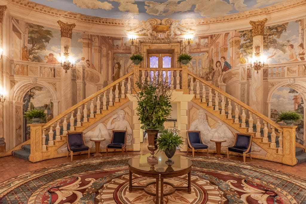 Elaborately painted Rotunda room at the Pierre Hotel in New York City.