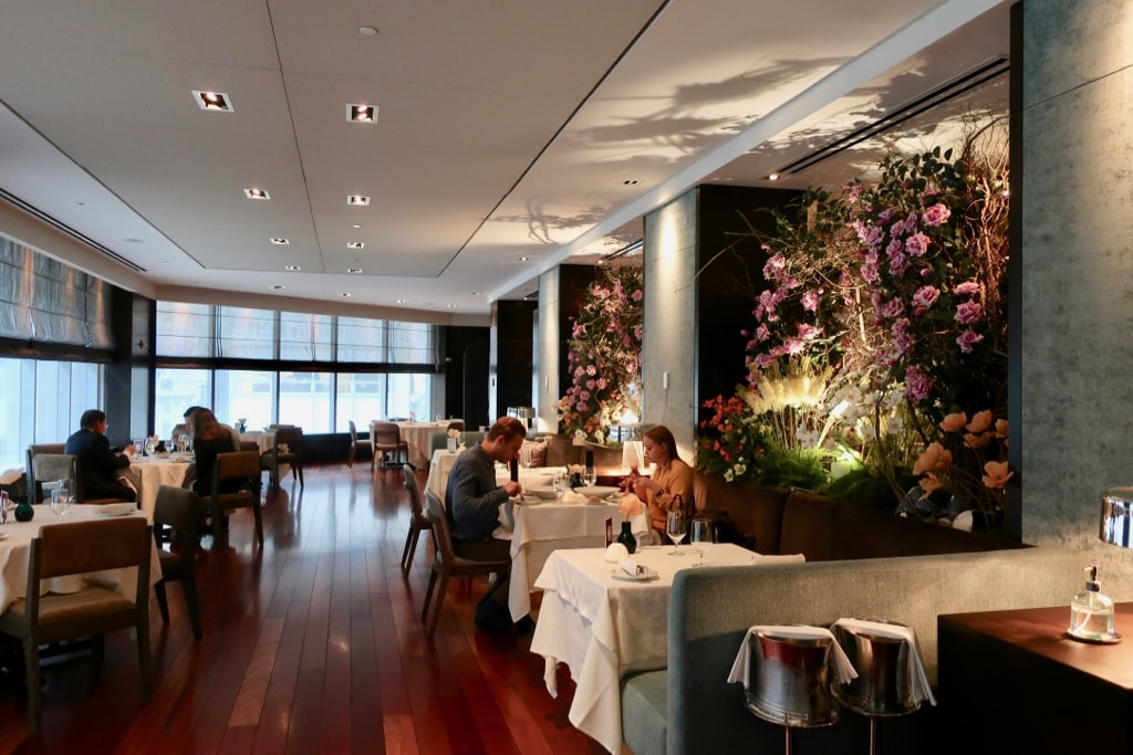 Ai Fiori restaurant with floral arrangements NYC