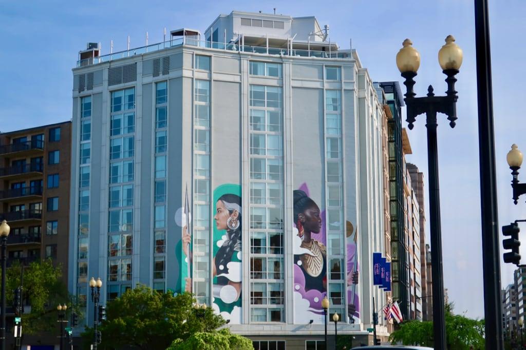 Exterior murals Hotel Zena Washington DC