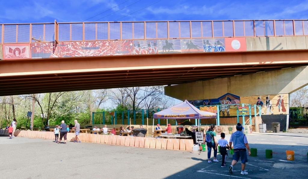 Franklins Brewery Under the Bridge outdoor seating Hyattsville MD